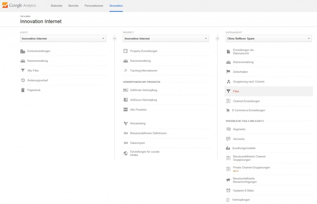 Google Analytics: Einen Filter anlegen